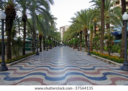 Promenade - stock photo