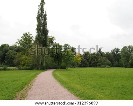 Promenade at Par an der Ilm in Weimar, Germany - stock photo