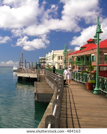 Promenade in Bridgetown / Barbados