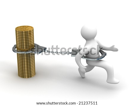 Promissory notes. Financial crisis. Isolated 3D image - stock photo