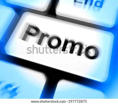 Promo Keyboard Showing Discount Reduction Or Save