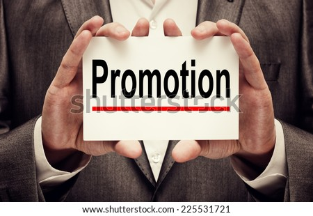 Promotion concept - stock photo
