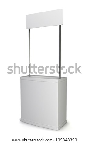 Promotion counter. 3d illustration isolated on white background