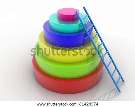 Promotion Ladder - stock photo