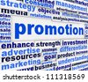 Promotion poster design. Creative marketing message background - stock photo