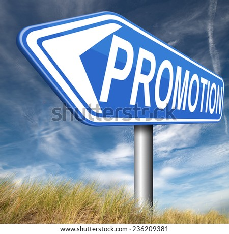 promotions in job or product promotion   - stock photo