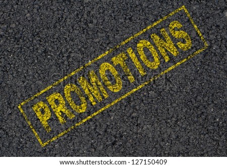Promotions sign background