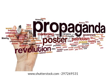 Propaganda concept word cloud background - stock photo