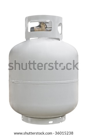 Propane Cyl. isolated on white - stock photo