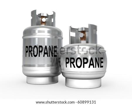 Propane gas tanks - stock photo