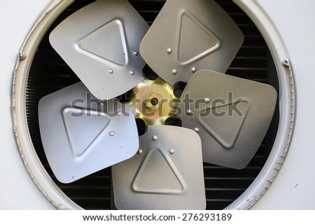 Propeller air conditioner - stock photo