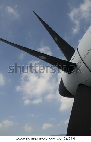 propeller from an airplane