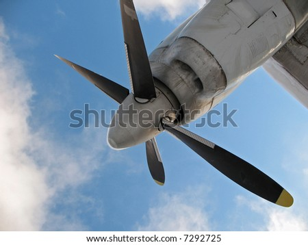 Propeller of a little airplane.
