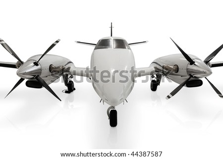 Propeller Private Jet - stock photo