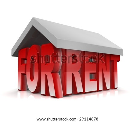 Property for rent concept illustration - stock photo