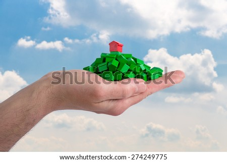 Property market and real estate - stock photo