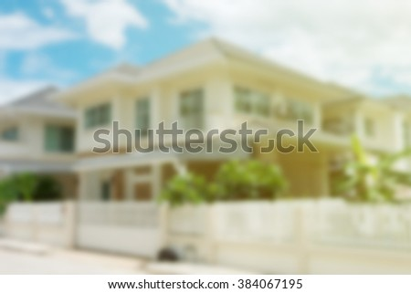 property residential house building, image blur background - stock photo