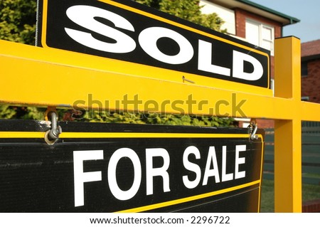 property sold - stock photo