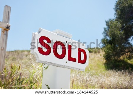 Property sold for housing development. - stock photo