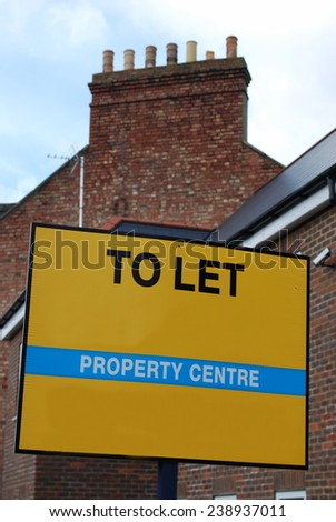 Property to let - stock photo