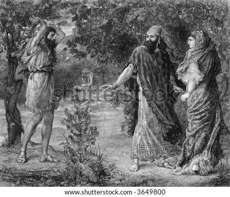 prophet and malediction king - stock photo