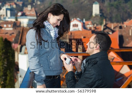 Proposal - stock photo