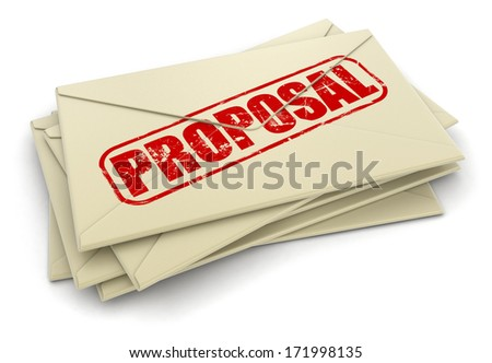 Proposal letters  (clipping path included) - stock photo