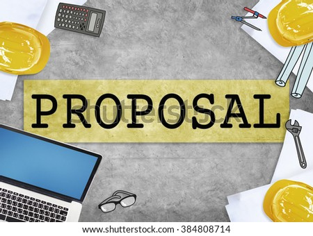 Proposal Suggestion Business Contract Concept Stock Photo Royalty