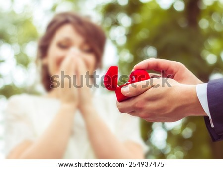 Proposal. Wedding and romantic concept - stock photo
