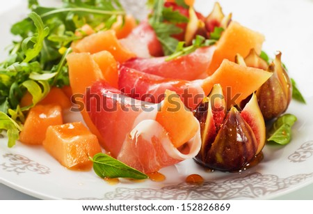 Prosciutto di Parma salad with melon and figs