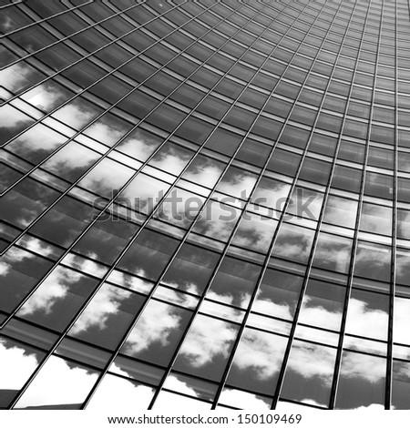 Prospective view of a skyscraper - stock photo