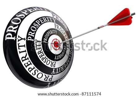 prosperity concept target isolated on white background