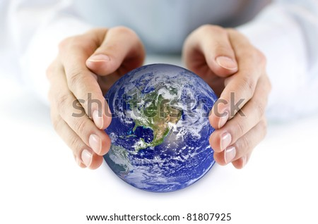 Protect the Earth - stock photo