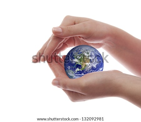 Protect the Earth. Elements of this image furnished by NASA - stock photo