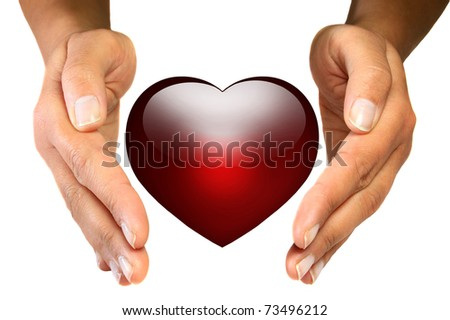 Protect your heart - stock photo