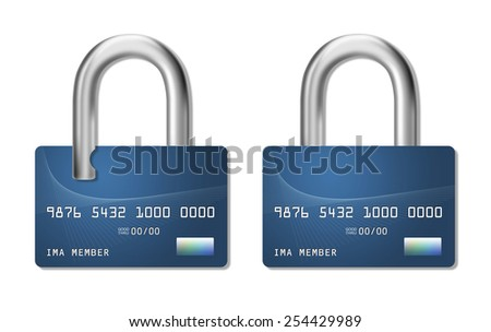 Protect your identity from credit card fraud. - stock photo