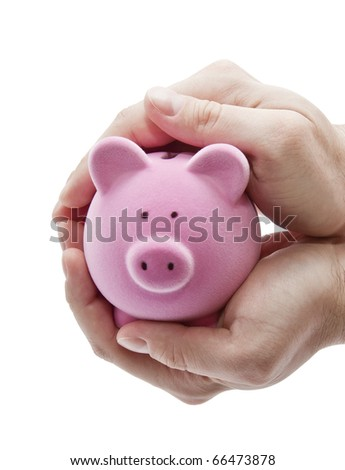 Protect your money. Clipping path included. - stock photo