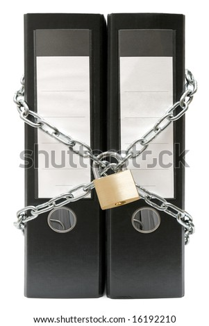 Protected File Folders - stock photo