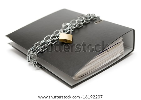Protected Files - stock photo