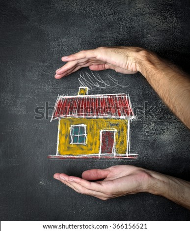 Protecting home - stock photo