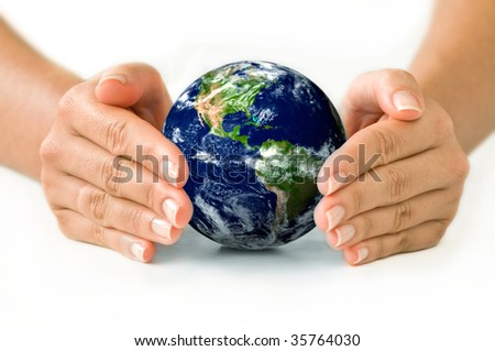 Protecting World - stock photo