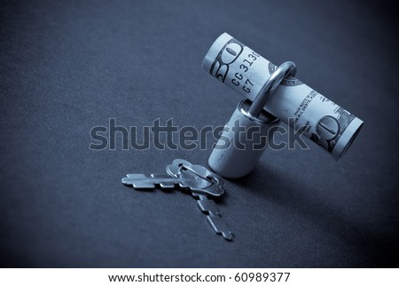 Protecting Your Finances Conceptual Image - stock photo