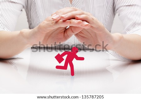 Protection businessman (concept) - stock photo