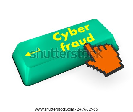 Protection concept: computer keyboard with word Fraud on enter button background, 3d render - stock photo