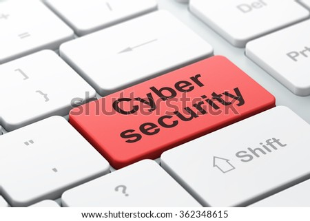 Protection concept: Cyber Security on computer keyboard background - stock photo