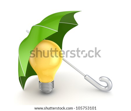 Protection concept.Isolated on white background.3d rendered. - stock photo