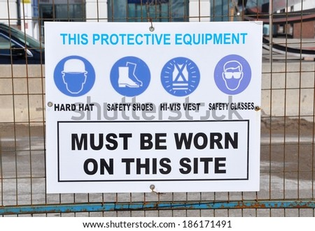Protection Equipment sign - stock photo