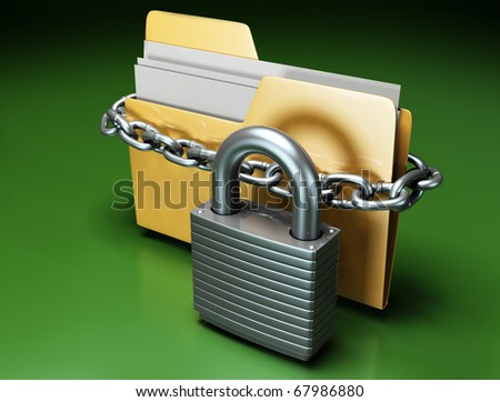 Protection Files - stock photo