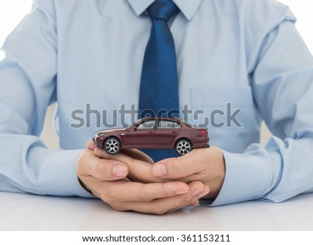 protection of car (automobile). insurance concept. - stock photo