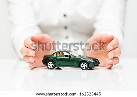 Protection of car. Business concept. - stock photo